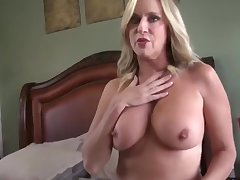 Amazing milf with hot body gets creampie from the brush stepson