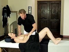 MILF gets seduced increased by groped during massage