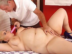 Ancient Whore Sensually Massages Fat Beauty Buxom Bella till Supreme moment