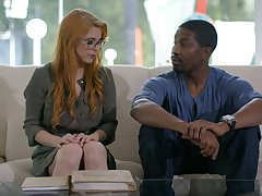 Ginger milf with perfectly shaped body Penny Pax goes black for the first time