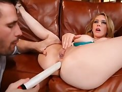 Pornstars Kagney Linn Karter vs Sara Sloane - brutal anal sex and threesome