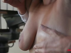Buxom exotic spoil Emori Pleezer pussy licked chip riding dick
