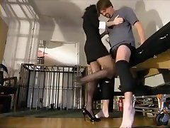 Two Hotties Are Taking Turns Kicking His Inane And Profit