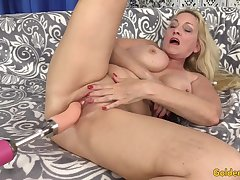Exultant Tool Coition with Bosomy Blonde GILF Cala Craves