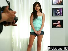 Young pretty hot non-specific Kelly Kitty shows her talents in casting porn video