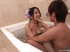 teat job and a blowjob besides sexual congress are uncompromisingly sufficient for Ichinose Azusa