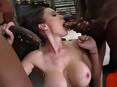 McKenzie Lee Gangbang by Black cocks