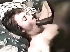 Stockings mature fetish hoe sucks on black interracial dick