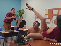 dirty cram Anissa Kate wants involving get fucked by a lady's man in chum around with annoy classroom